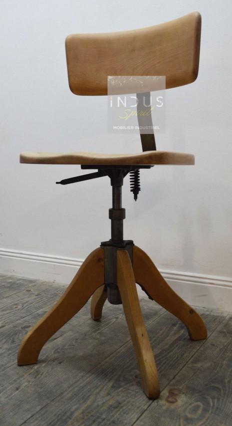 Chaise de bureau bois et métal