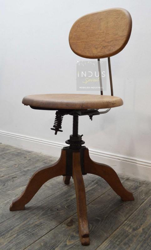Ancienne chaise de bureau Américaine
