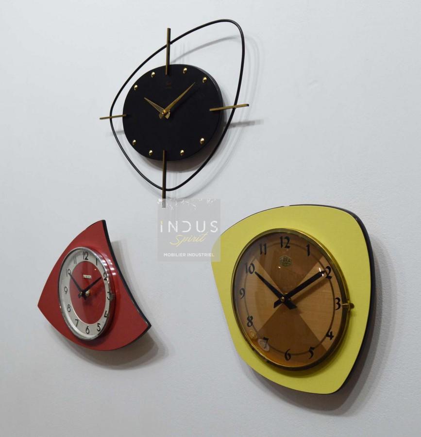 Triptyque anciennes horloges vintage