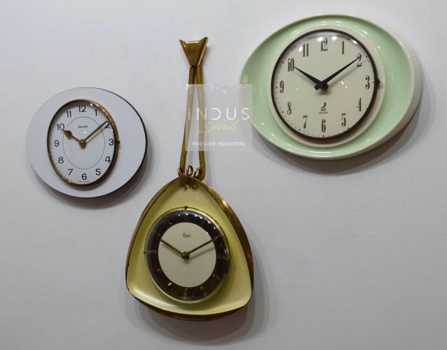 Triptyque horloge vintage