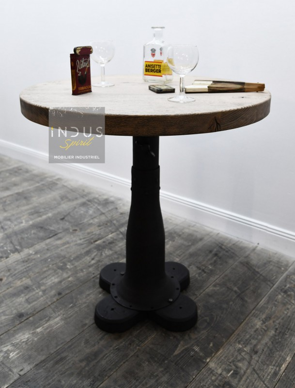 Table d'appoint industrielle ronde
