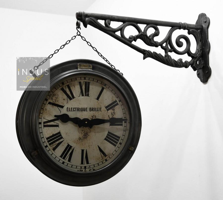 Ancienne horloge Brillié double face