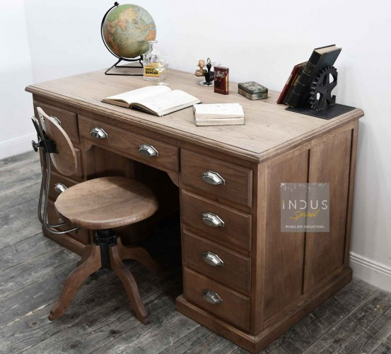Ancien bureau en chêne massif
