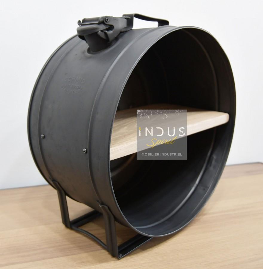 Petite étagère ronde industrielle