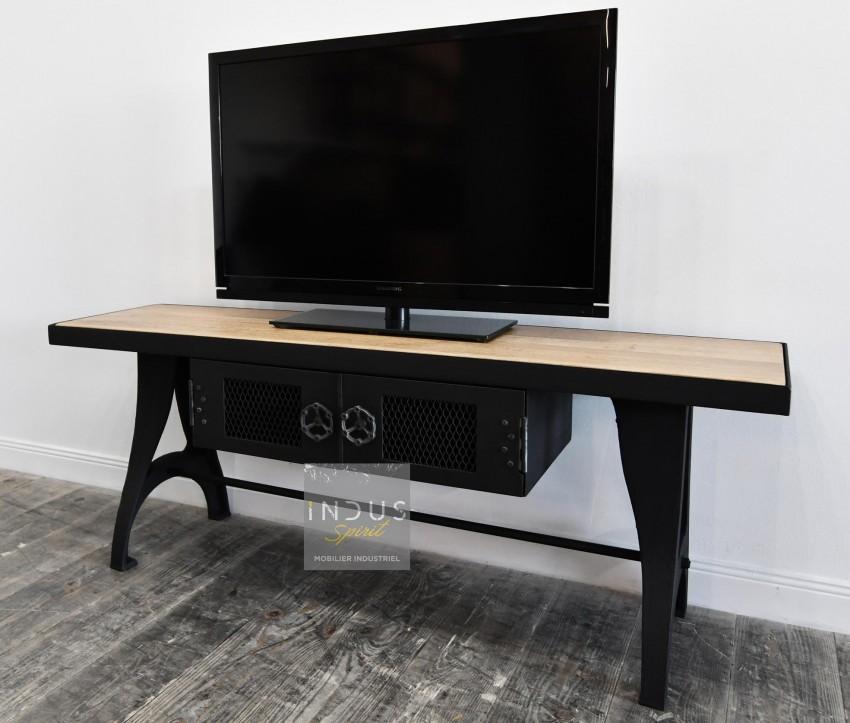 Petit meuble TV design industriel